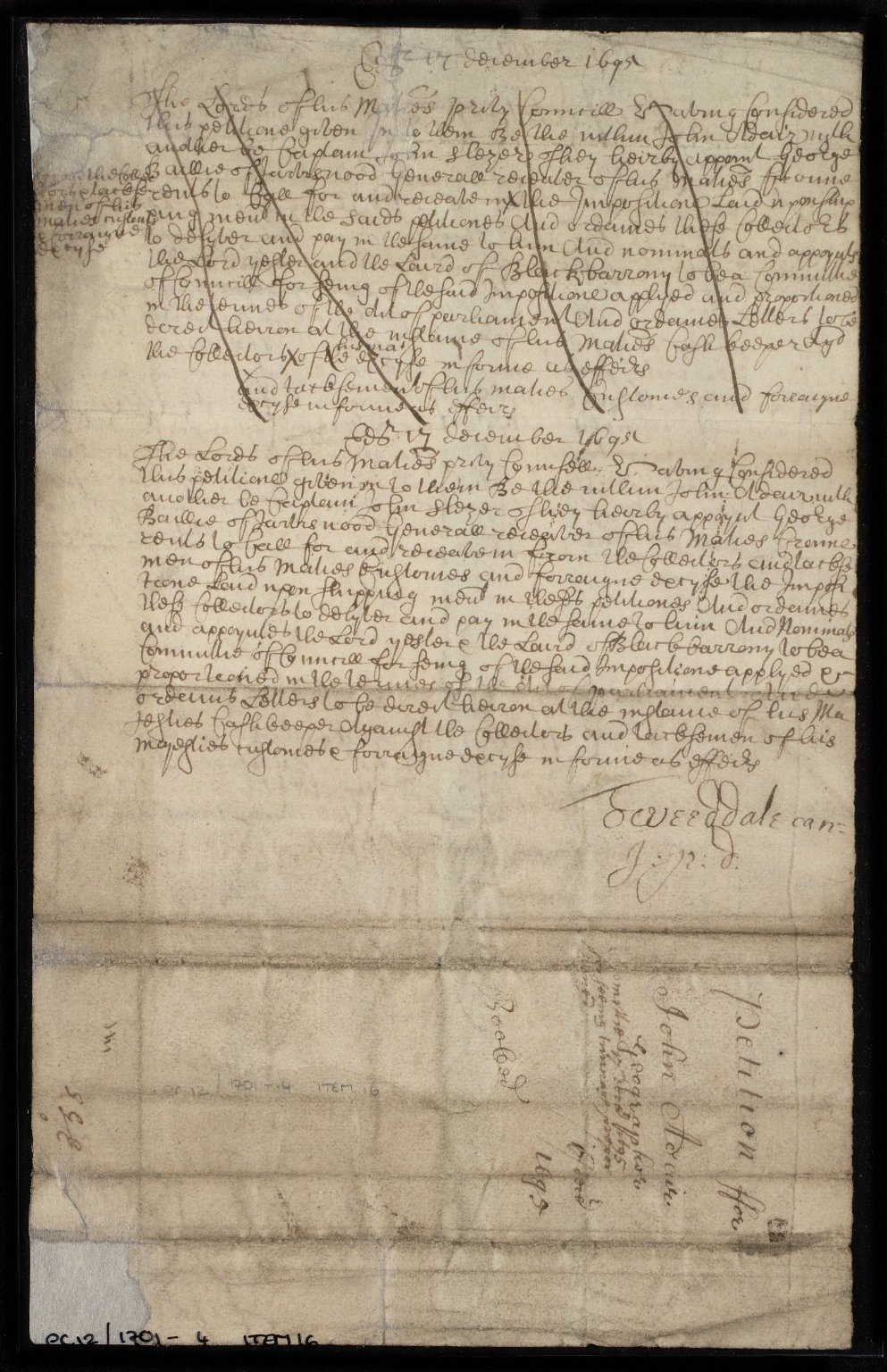 The Petition of John Adair Geographer [to the Privy Council] [2 of 2]