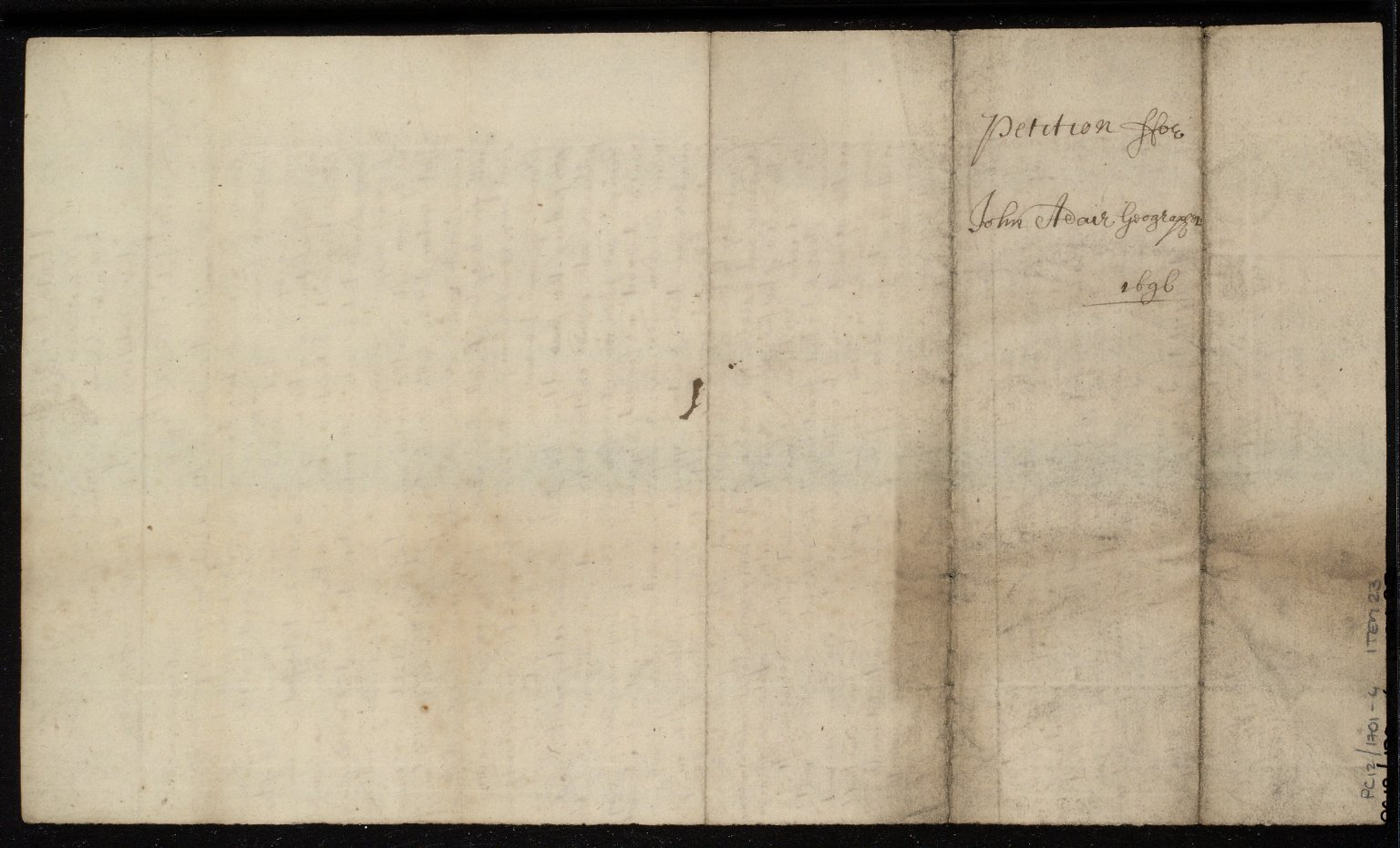 The Petition of John Adair Geographer [2 of 2]