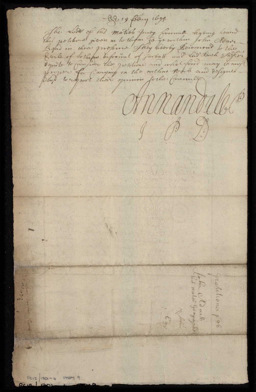 [Petition of John Adair to the Privy Council concerning delays in his work and requesting payments] [2 of 2]