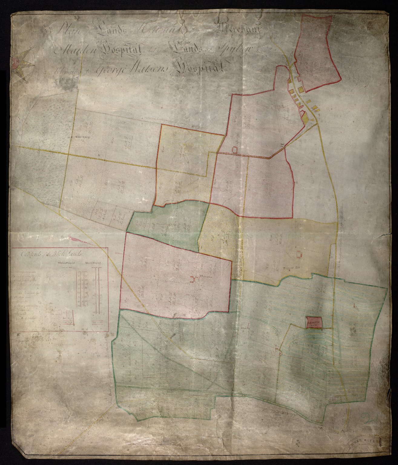 Plan Lands of Hieteun beonging to the Merchant Maiden Hospital and of Spylaw belonging to George Watsons Hospital [1 of 1]