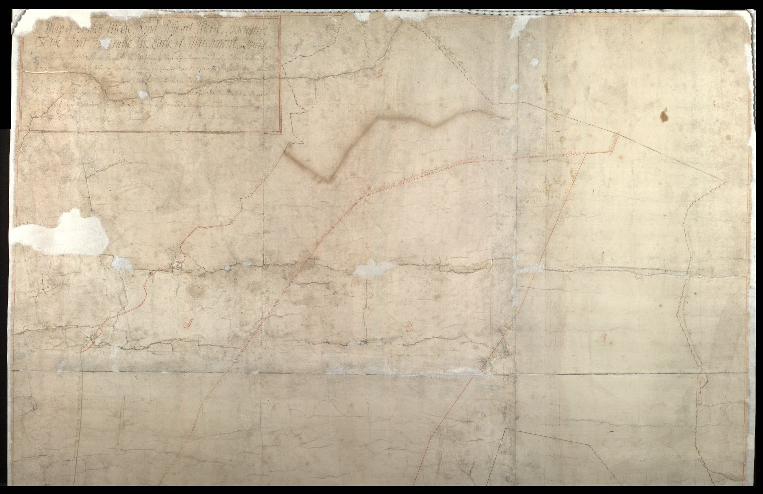 A Map of Grinley Moore And Pollwart Moore Belonging to The Right Honorable the Earle of Marchmont [1 of 2]