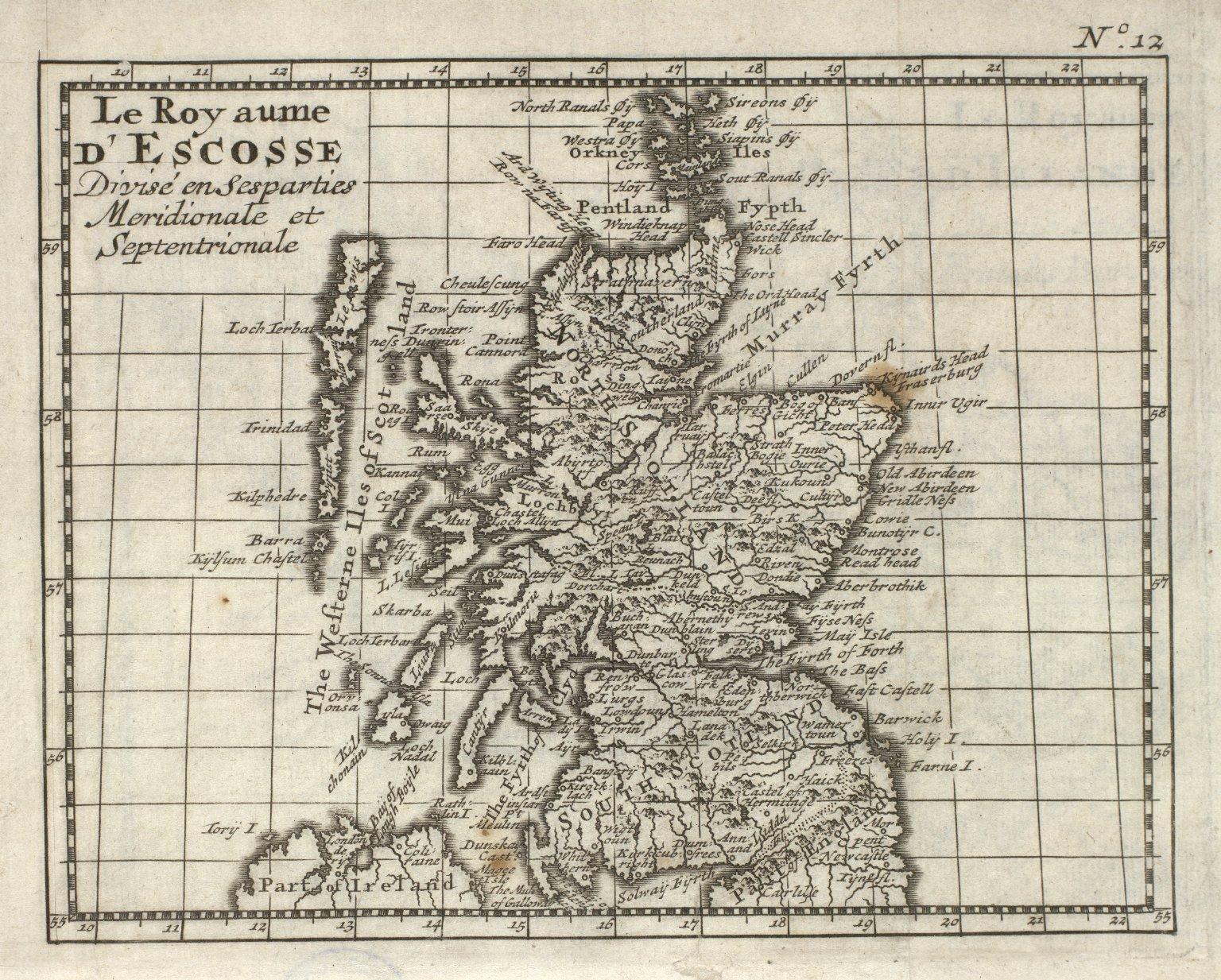 Le Royaume D'Escosse Divise en ses parties Meridionale et Septentrionale. [1 of 1]