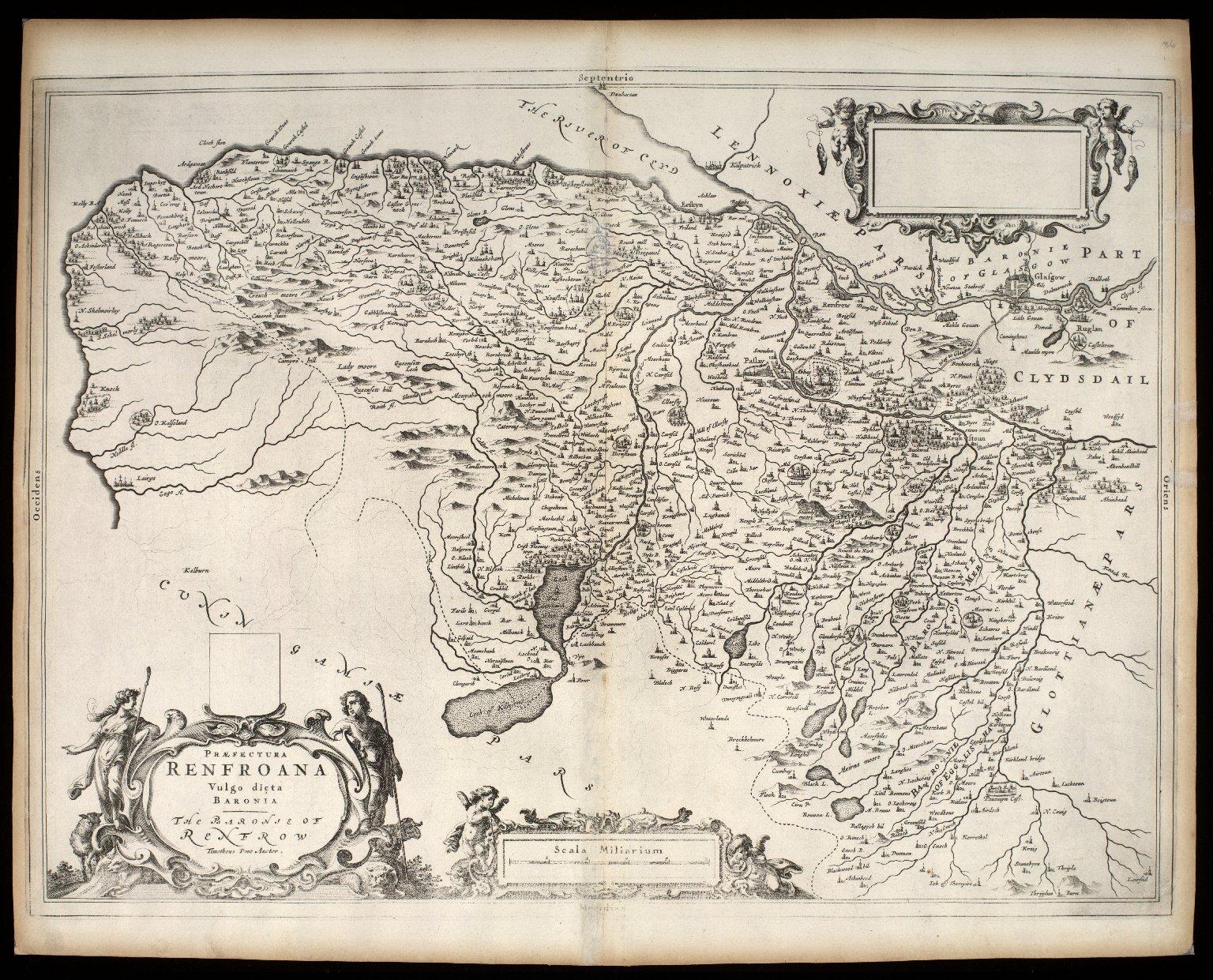 Praefectura Renfroana, vulgo dicta Baronia. The Baronie of Renfrow [i.e. Renfrew] [1 of 1]
