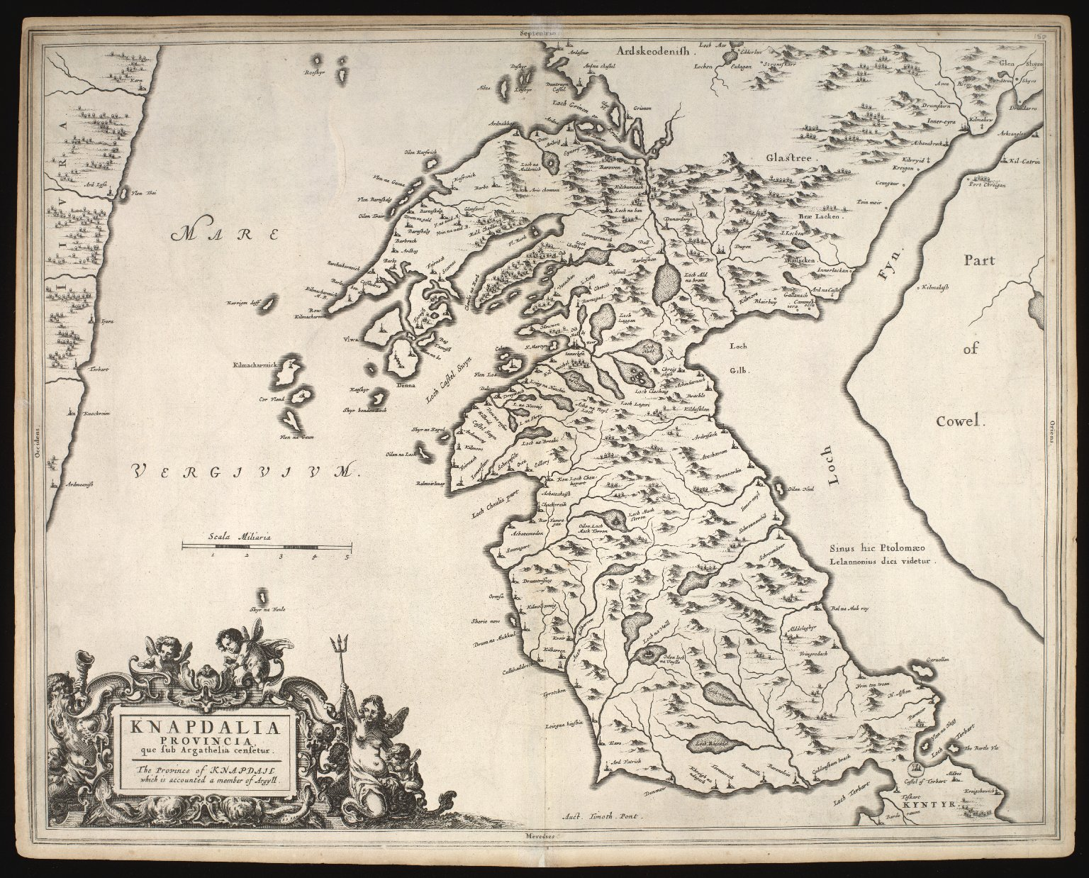 Knapdalia provincia que sub Argathelia censetur = The Province of Knapdail which is accounted a member of Argyll [1 of 1]