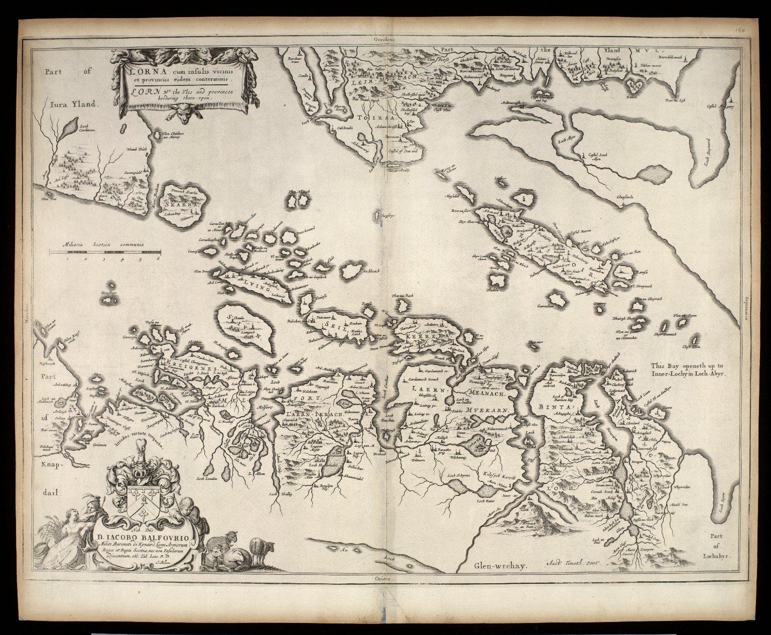 Lorna cum insulis vicinis et provinciis eidem conterminis = Lorn wt the Yles and provinces bordering there-upon [1 of 1]