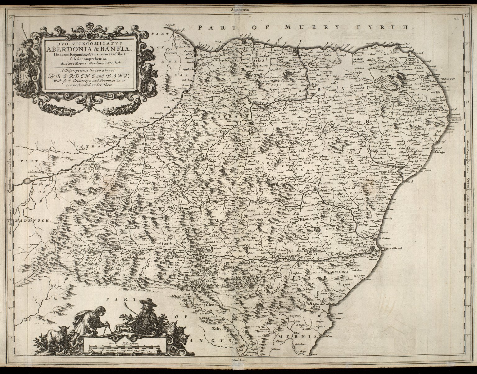 Duo Vicecomitatus Aberdonia & Banfia, Una cum Regionibus & terrarum tractibus sub iis comprehensis [1 of 1]