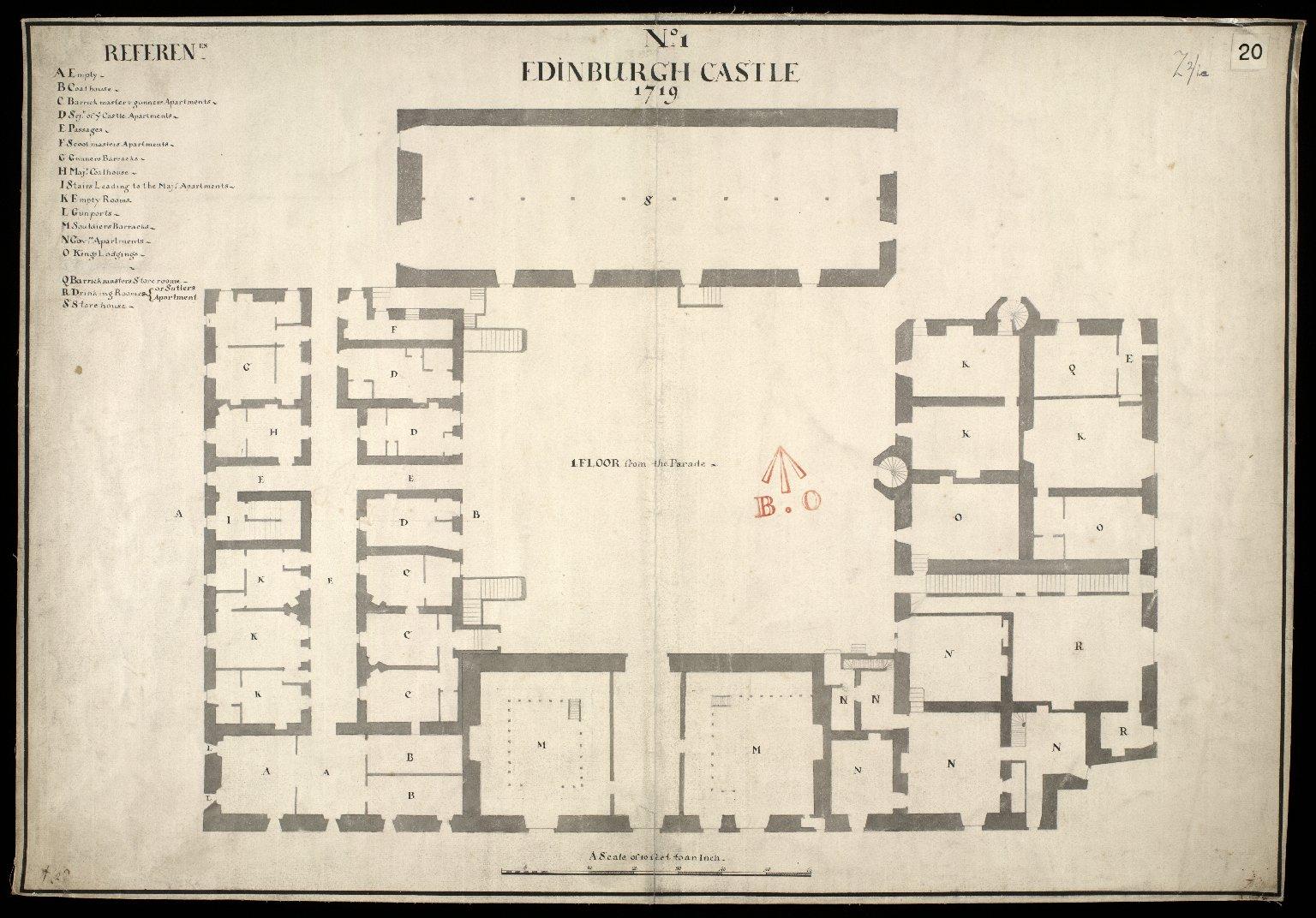 Edinburgh Castle, No. 1, 1719 [1 of 1]
