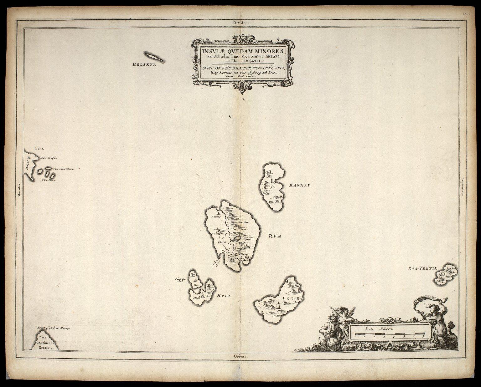 Insulae quaedam minores ex Aebudis quae Mulam et Skiam insulas interjacent. [1 of 1]