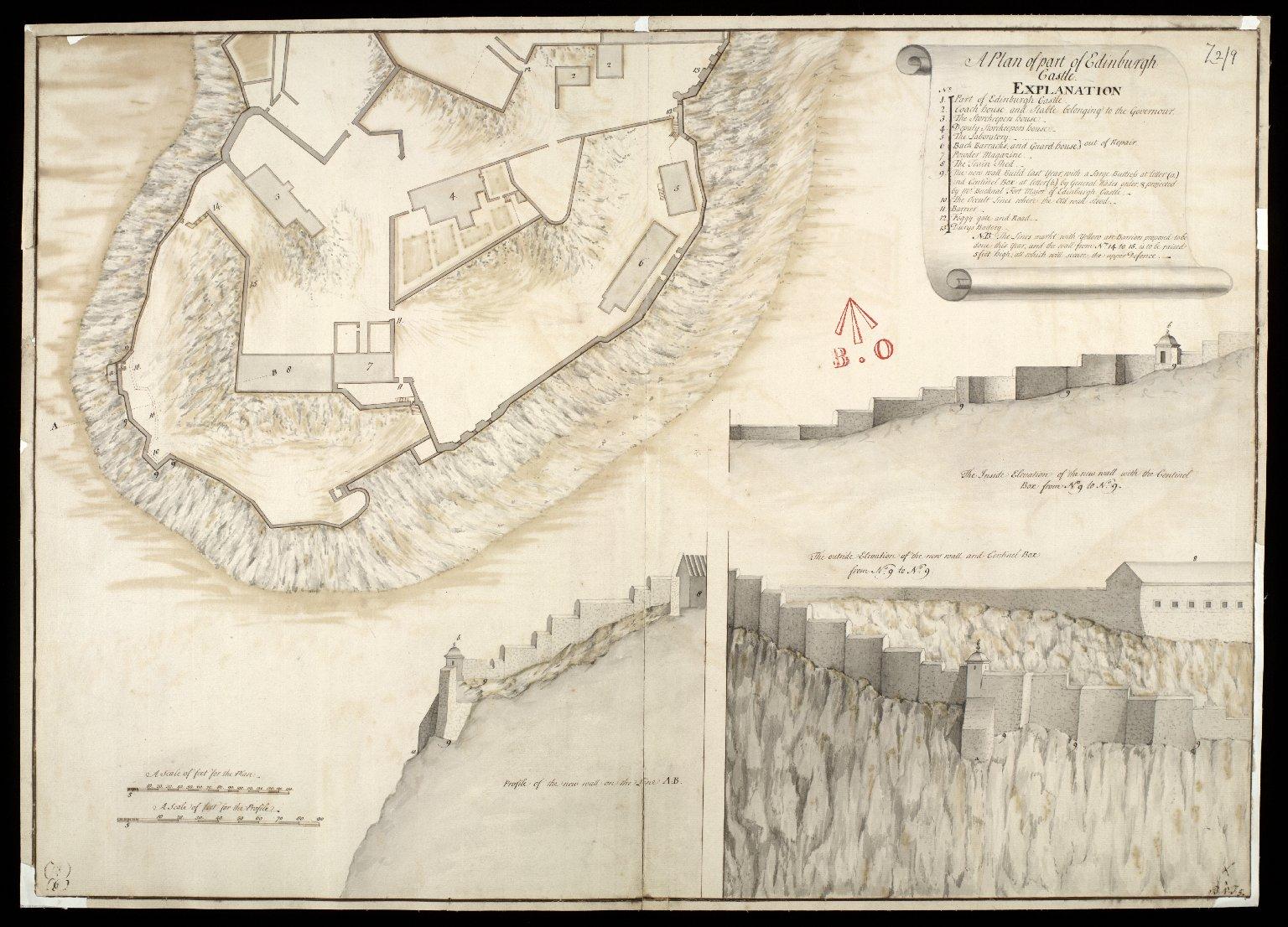 A Plan of Part of Edinburgh Castle [1 of 1]