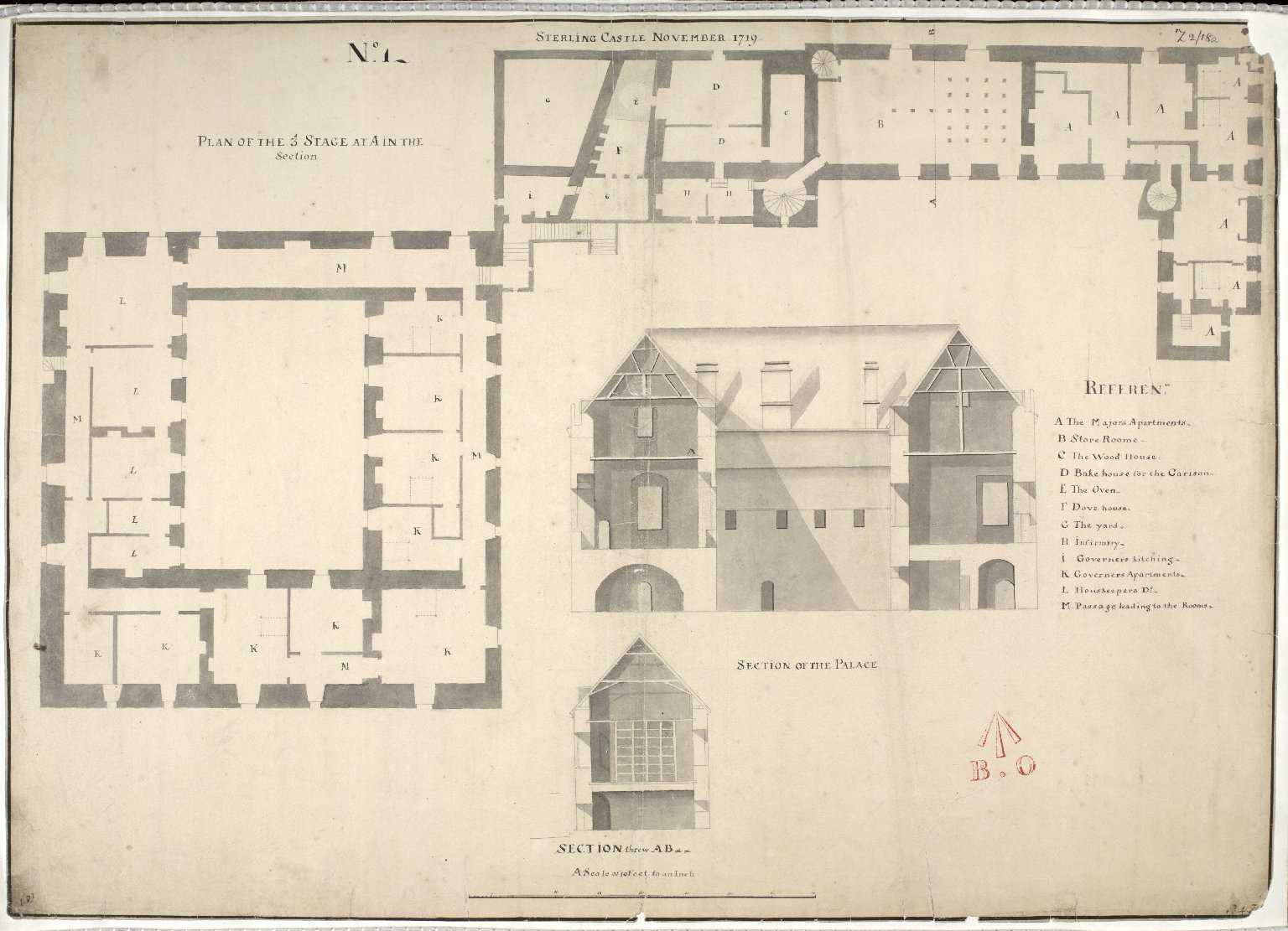 Sterling [i.e. Stirling] Castle, November 1719, No. 1 [1 of 1]