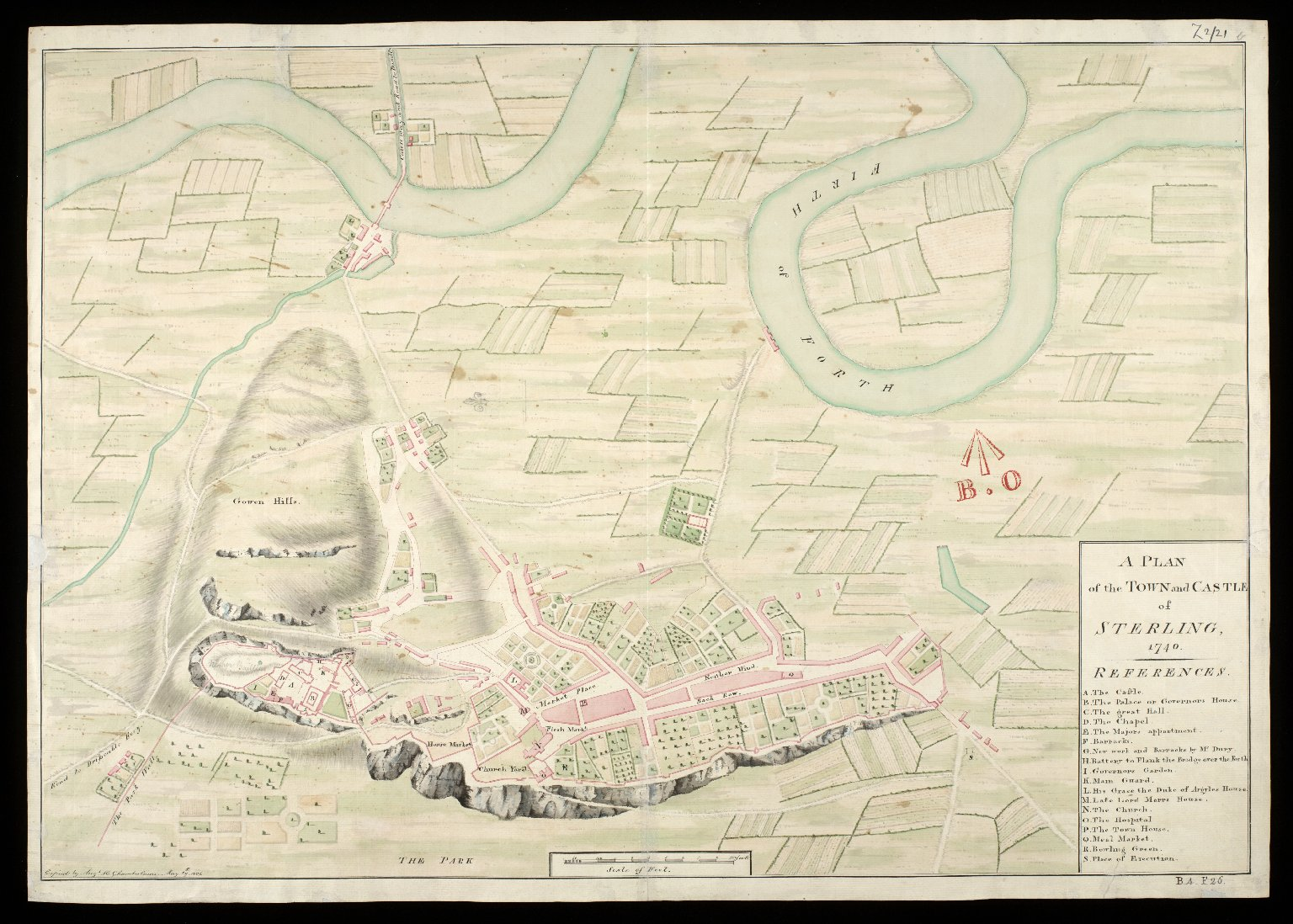 A Plan of the town and castle of Sterling [i.e. Stirling] 1740 [1 of 1]