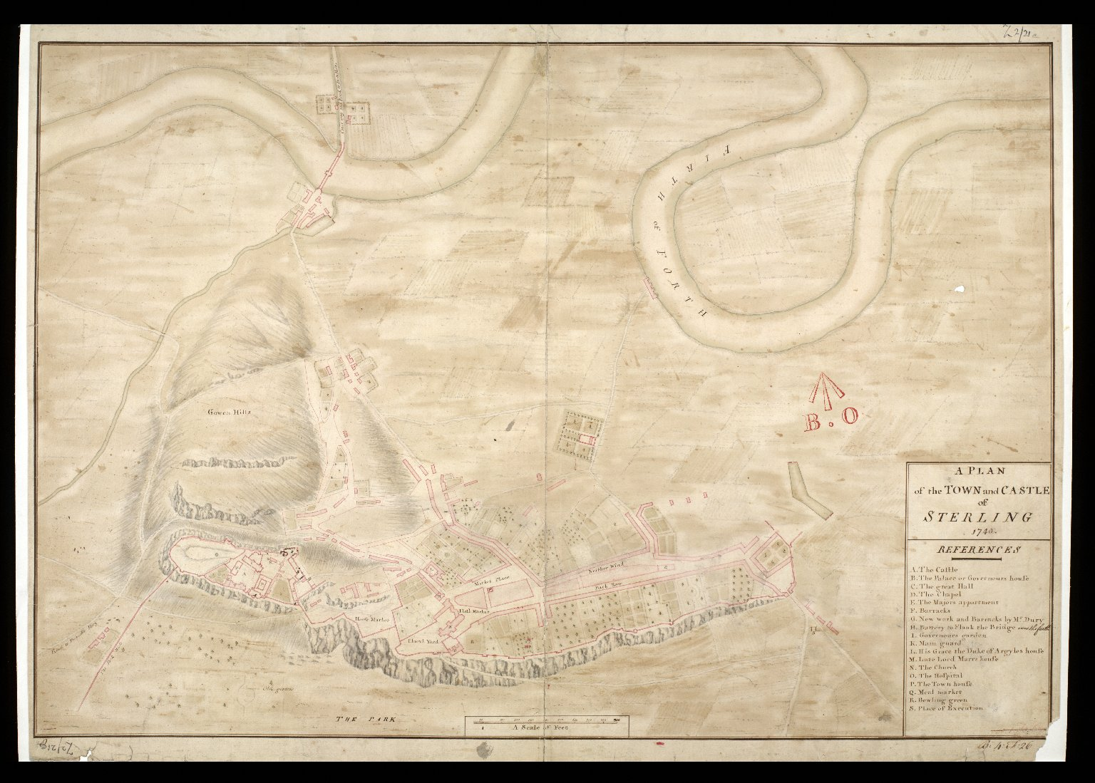A Plan of the town and castle of Sterling [i.e. Stirling] 1740. [1 of 1]