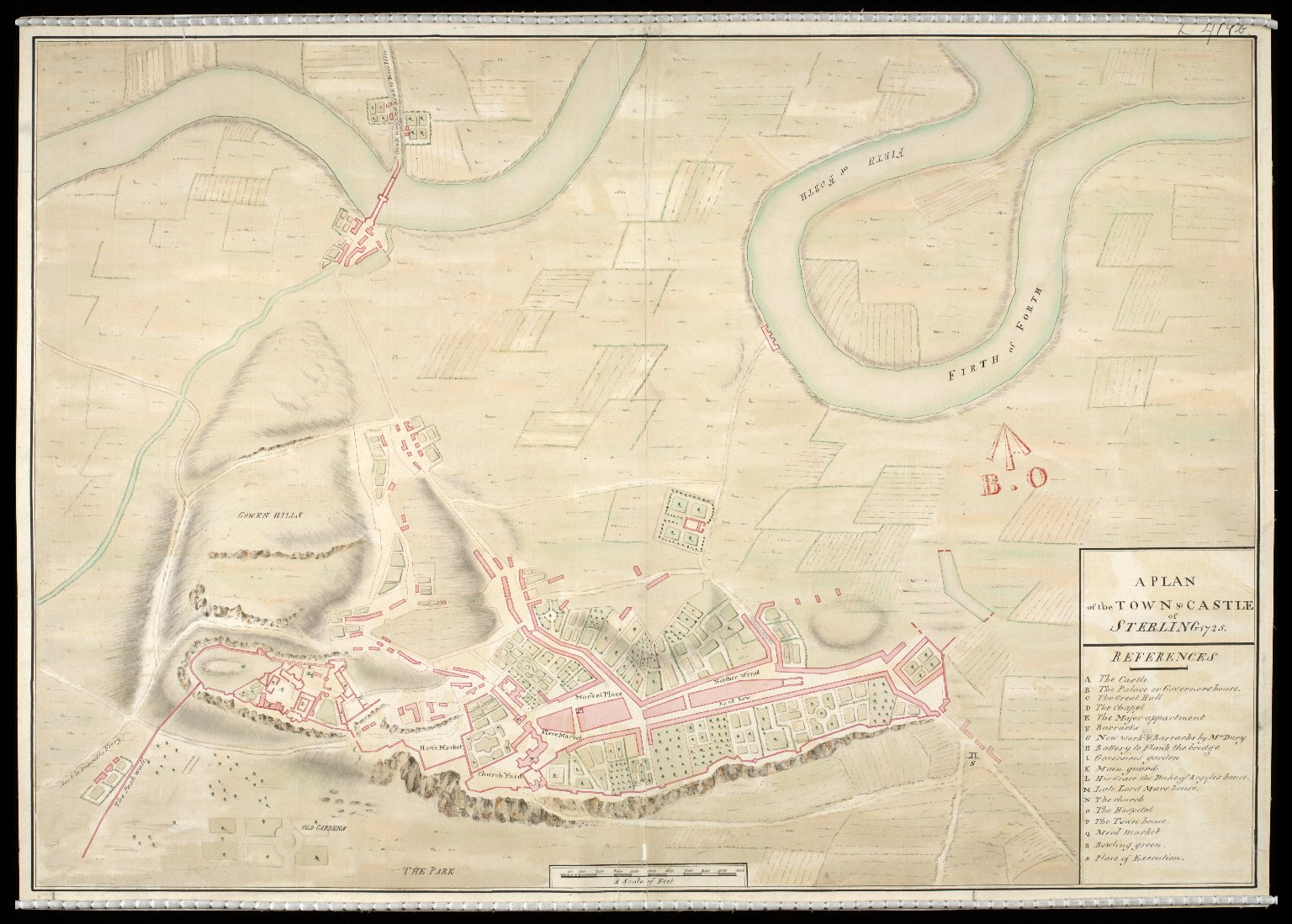 A Plan of the town and castle of Sterling [i.e. Stirling] 1725. [1 of 1]