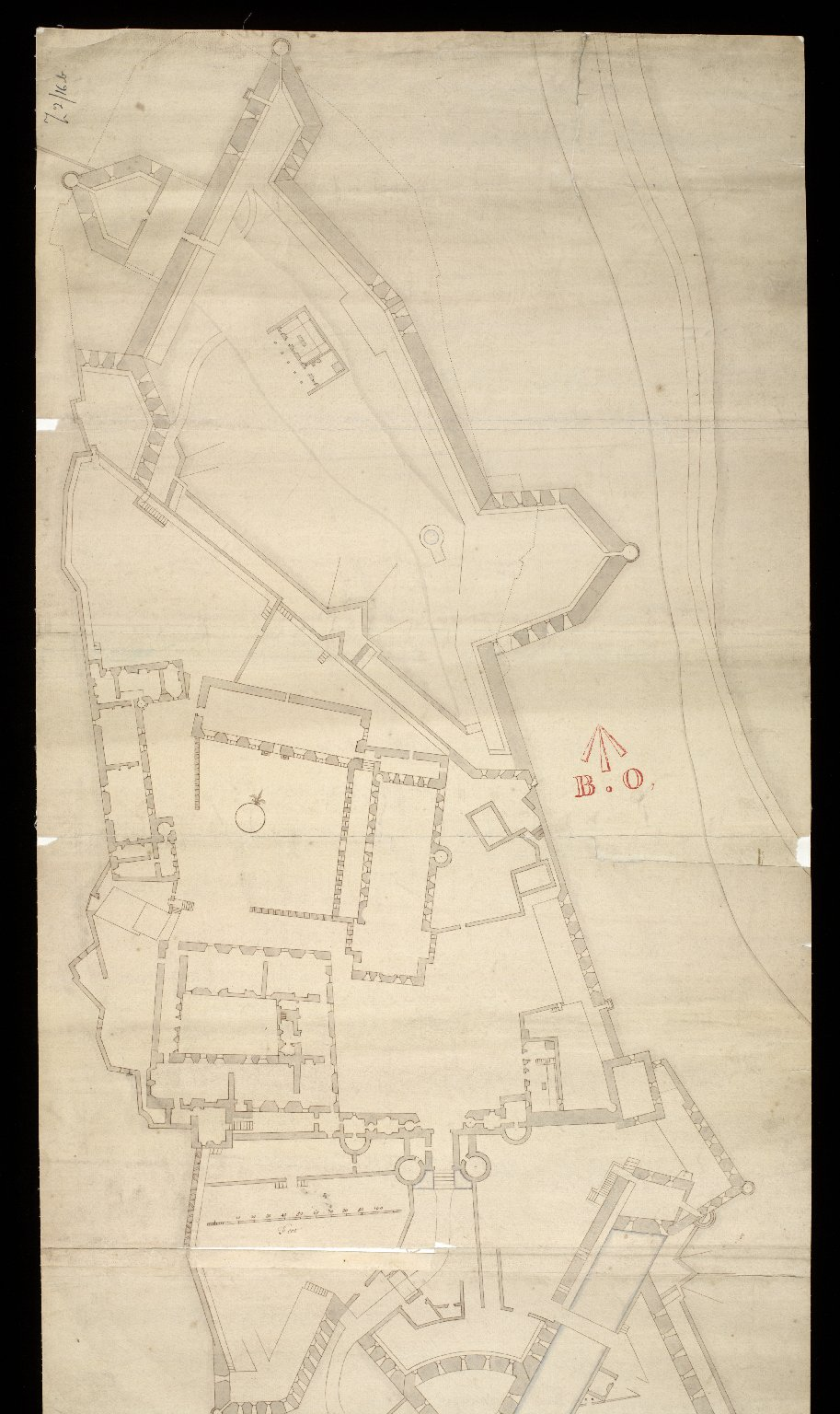 [Stirling Castle, with plans to fortify the main entrance and the nether bailey] [1 of 2]