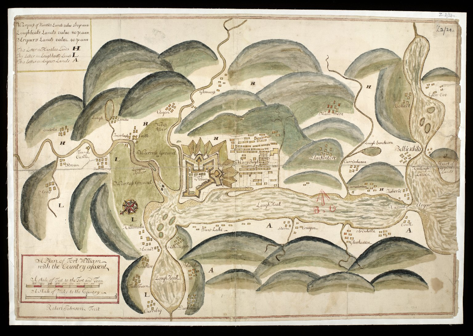 A Plan of Fort William with the country adjasent [1 of 1]