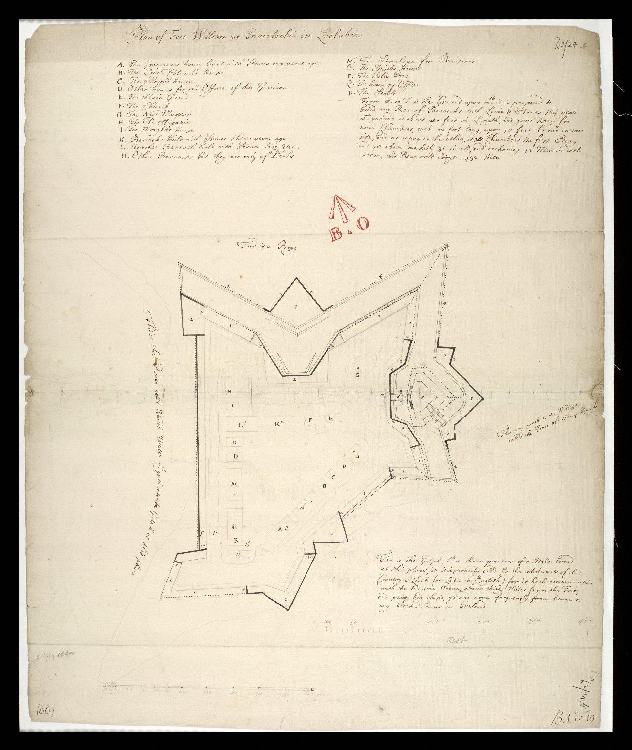 Plan of Fort William at Inverlochie [i.e. Inverlochy] in Lochaber. [1 of 1]