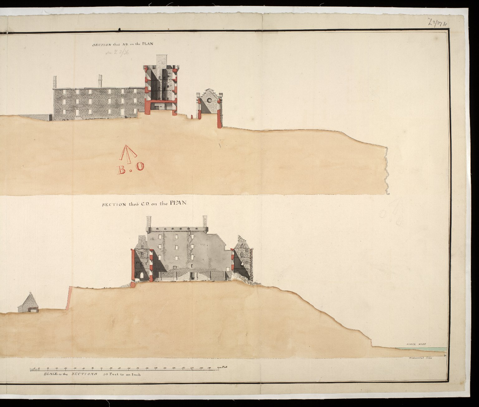 Fort George at Inverness [1750] [copy] [2 of 2]