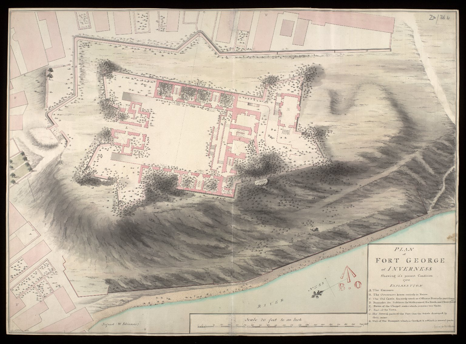 Plan of Fort George at Inverness, shewing it's present condition, 1750 [copy] [1 of 1]