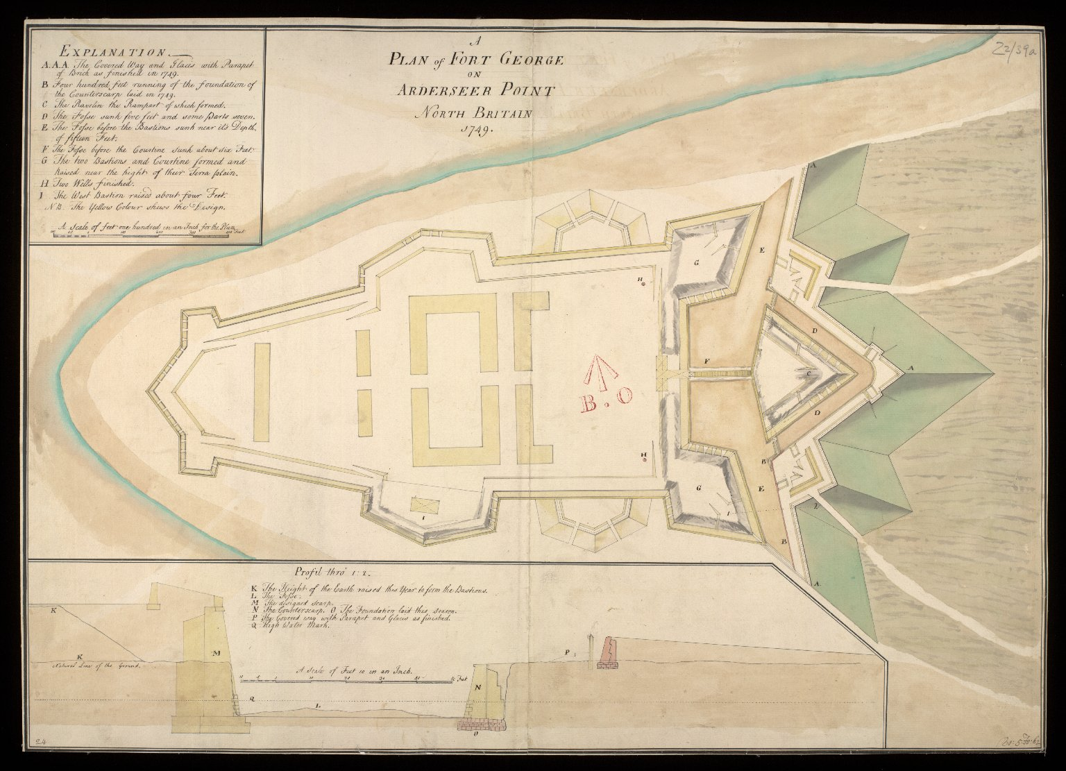 A Plan of Fort George on Arderseer [i.e. Ardersier] Point North Britain 1749 [1 of 1]