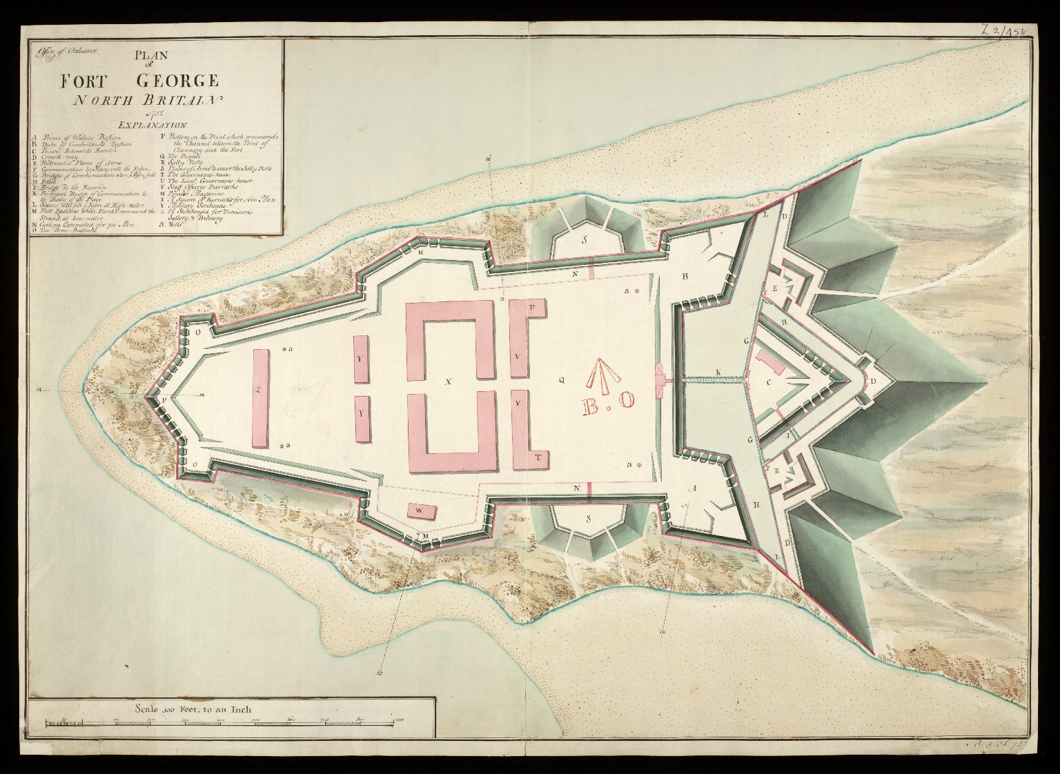 A Plan of Fort George North Britain 1752 [copy] [1 of 1]
