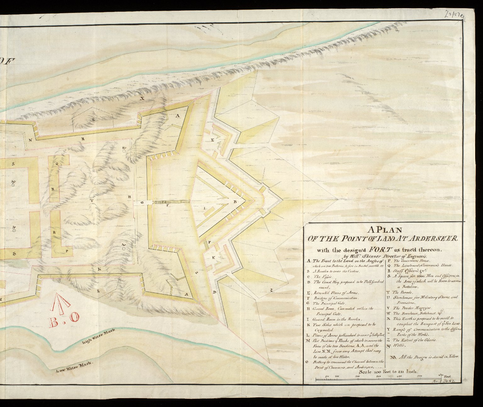 A Plan of the point of land at Arderseer [i.e. Ardersier] : with the design'd fort as trac'd thereon [copy] [2 of 2]