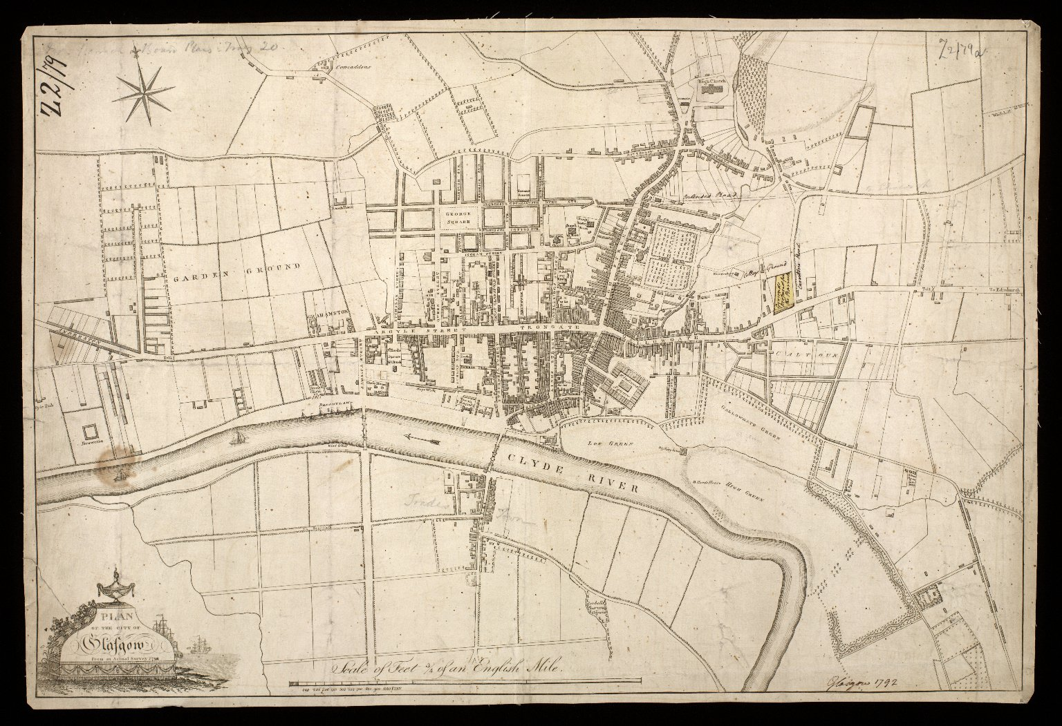 Plan of the City of Glasgow : from an actual survey 1792 [1 of 1]
