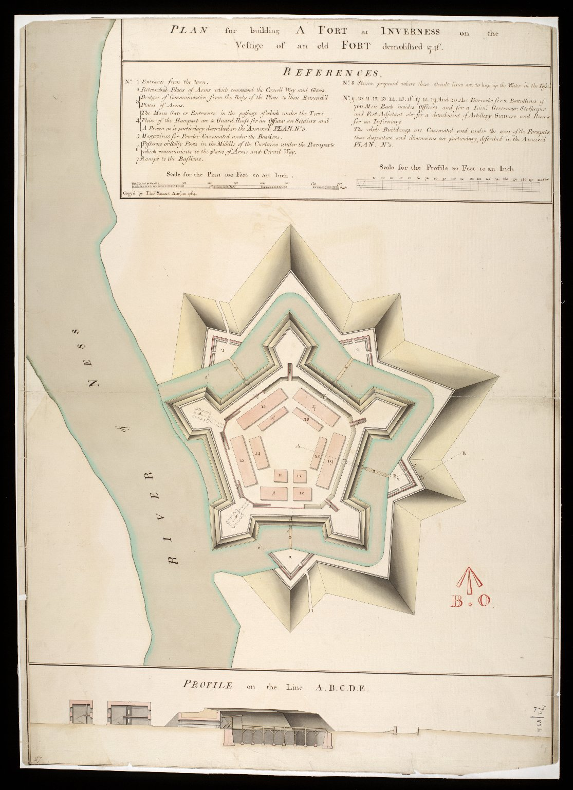 Plan for building a Fort at Inverness on the vestige of an old fort demolished 1746 [copy] [1 of 1]