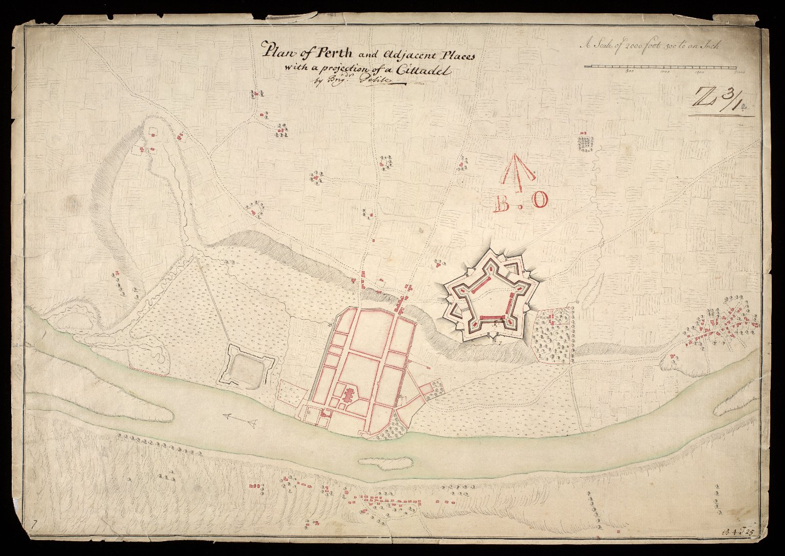 Plan of Perth and adjacent places : with a projection of a cittadel [1 of 1]