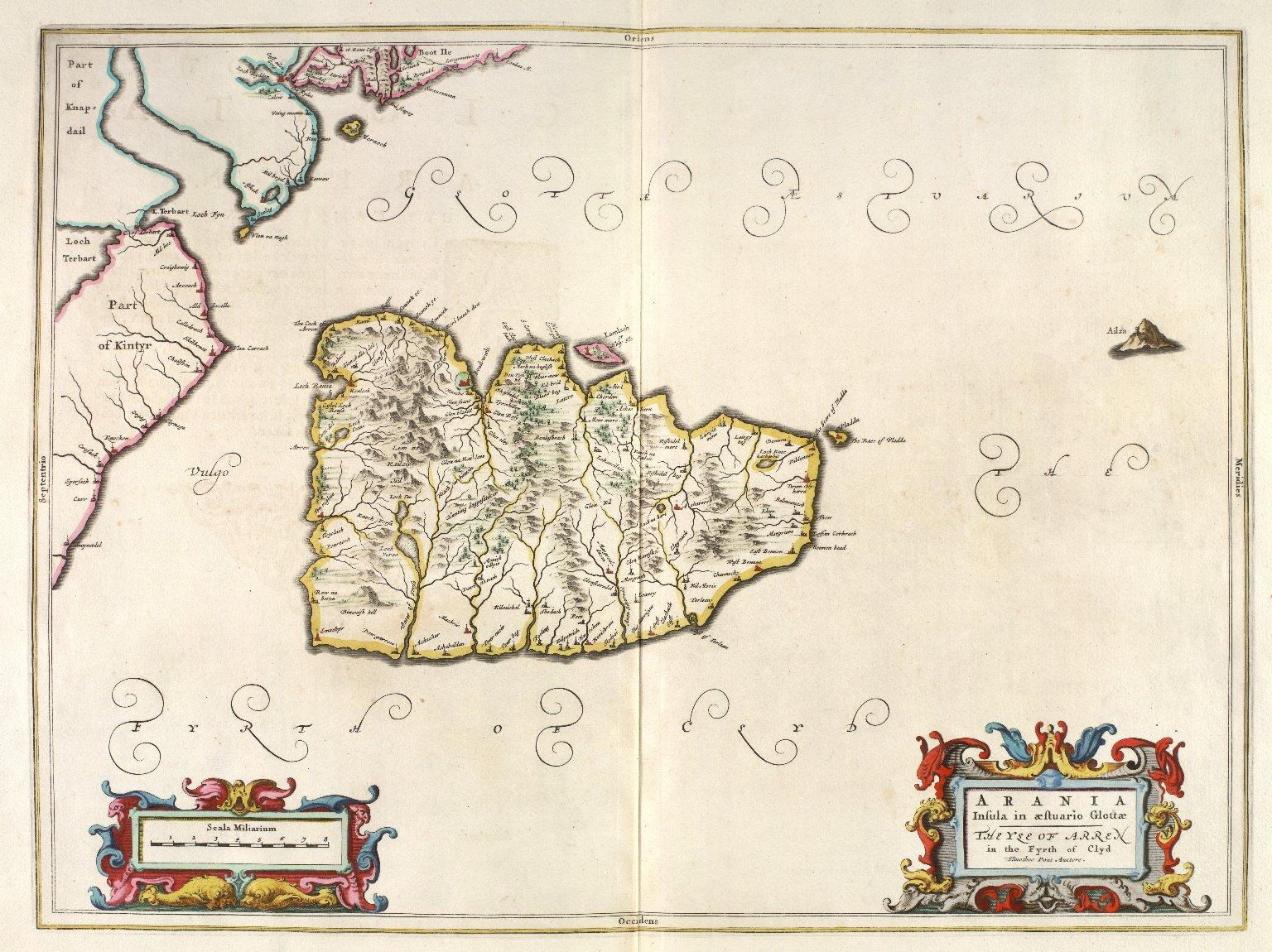 Arania Insula in aestuario Glottae The Yle of Arren in the Fyrth of Clyd [1 of 1]