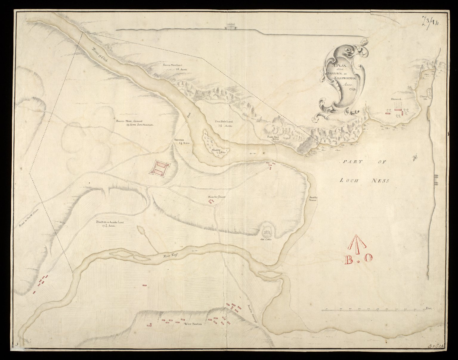 A Plan of the barrack at Killewhiman [i.e. Kiliwhimen] anno 1719 [copy] [1 of 1]
