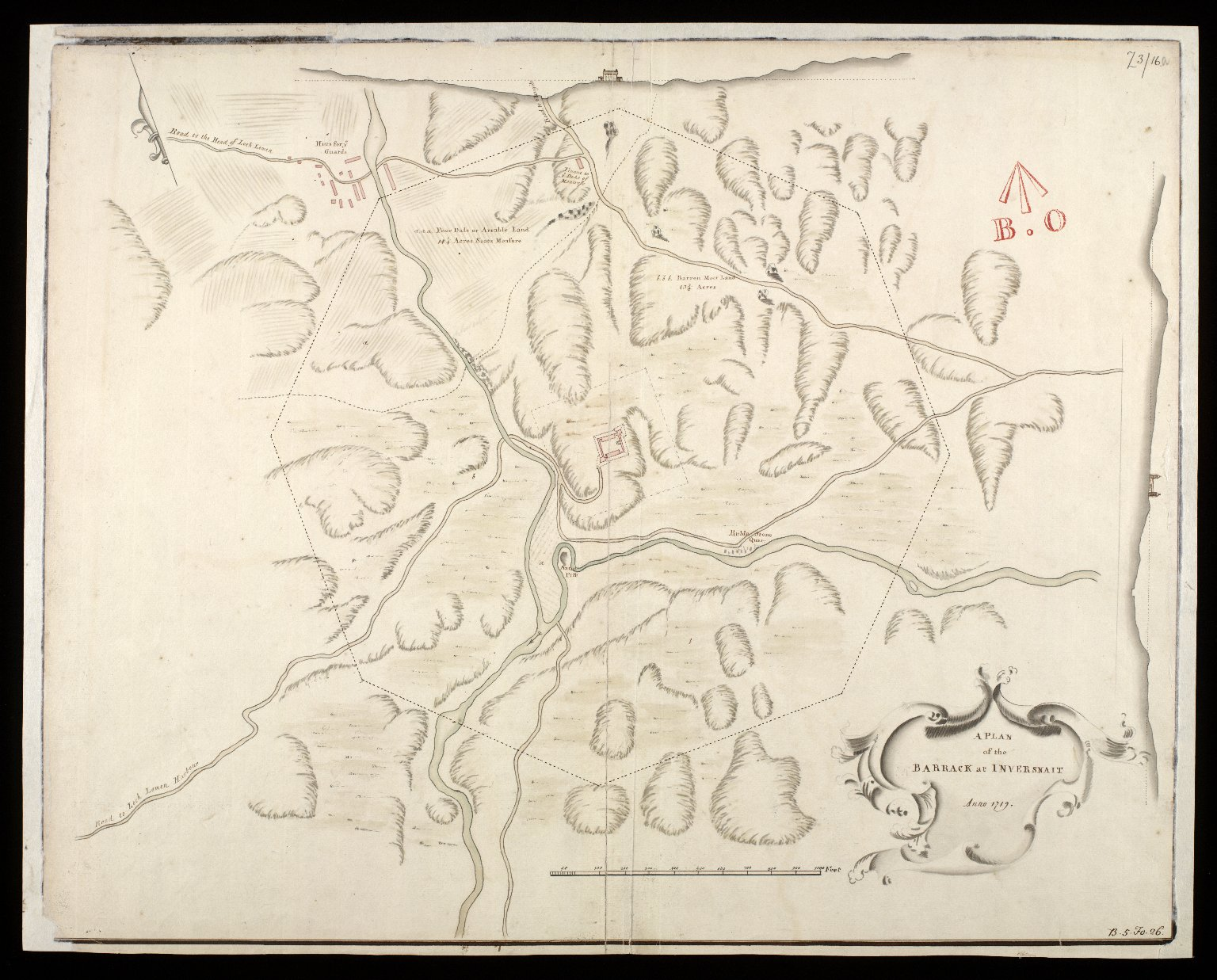 A Plan of the barrack at Inversnait [i.e. Inversnaid], anno 1719 [1 of 1]