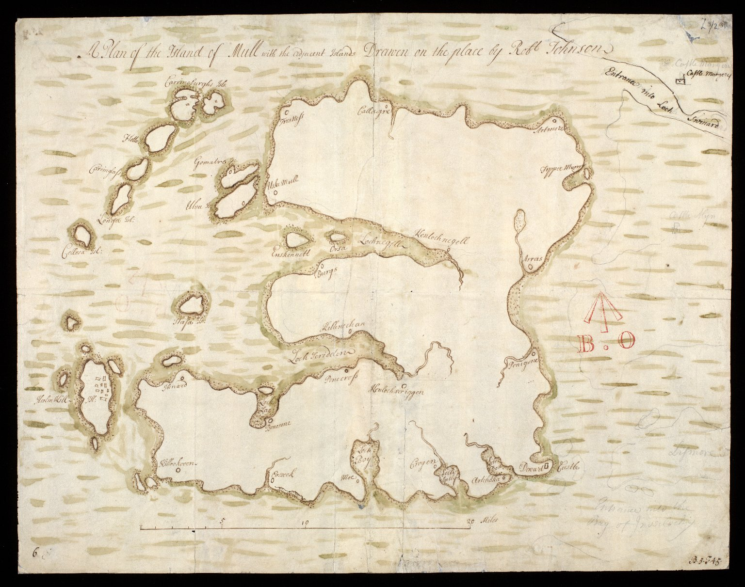 A Plan of the Island of Mull with the adjacent Islands [1 of 1]