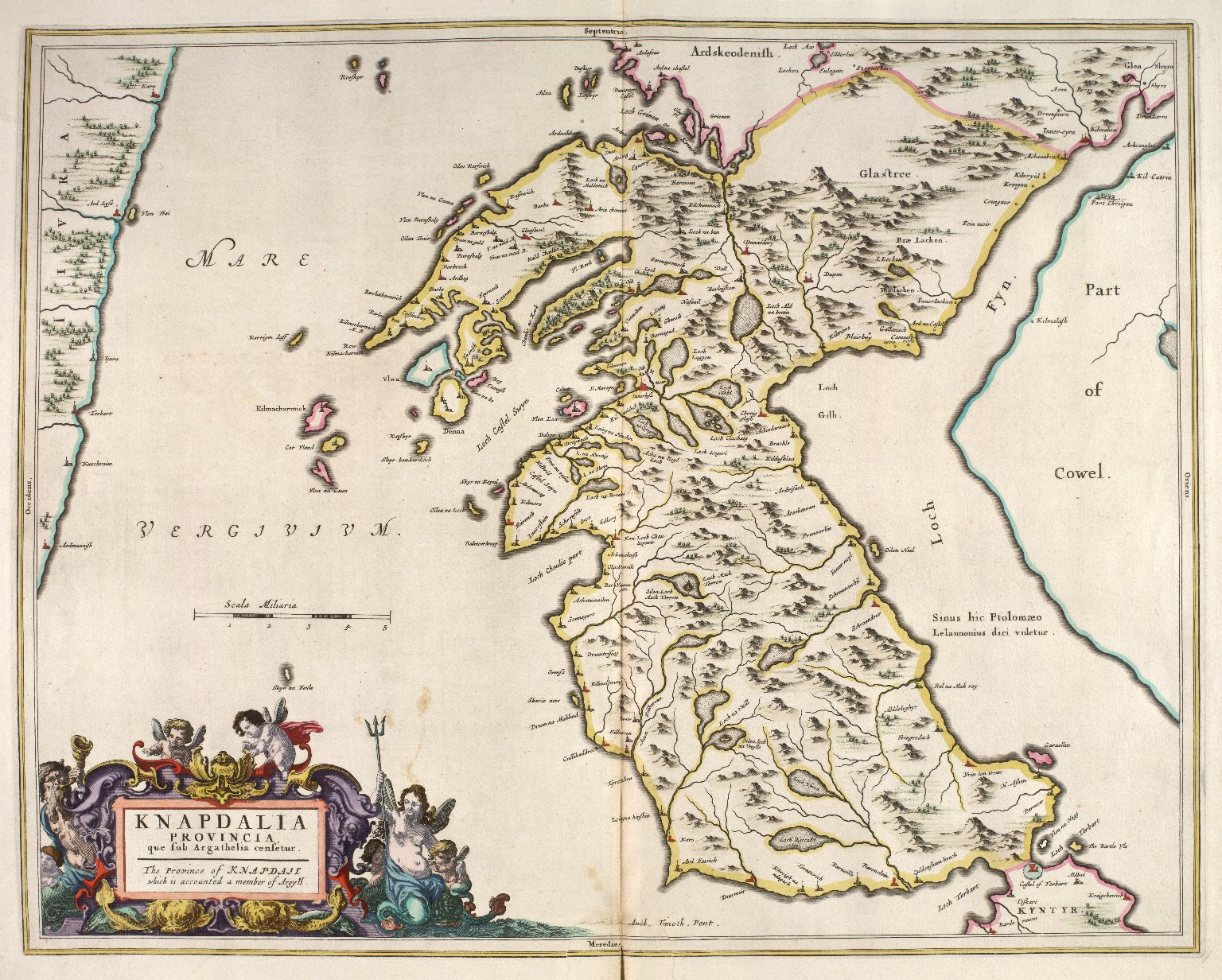 Knapdalia Provincia, que sub Argathelia censetur. The Province of Knapdail which is accounted a member of Argyll. [1 of 1]