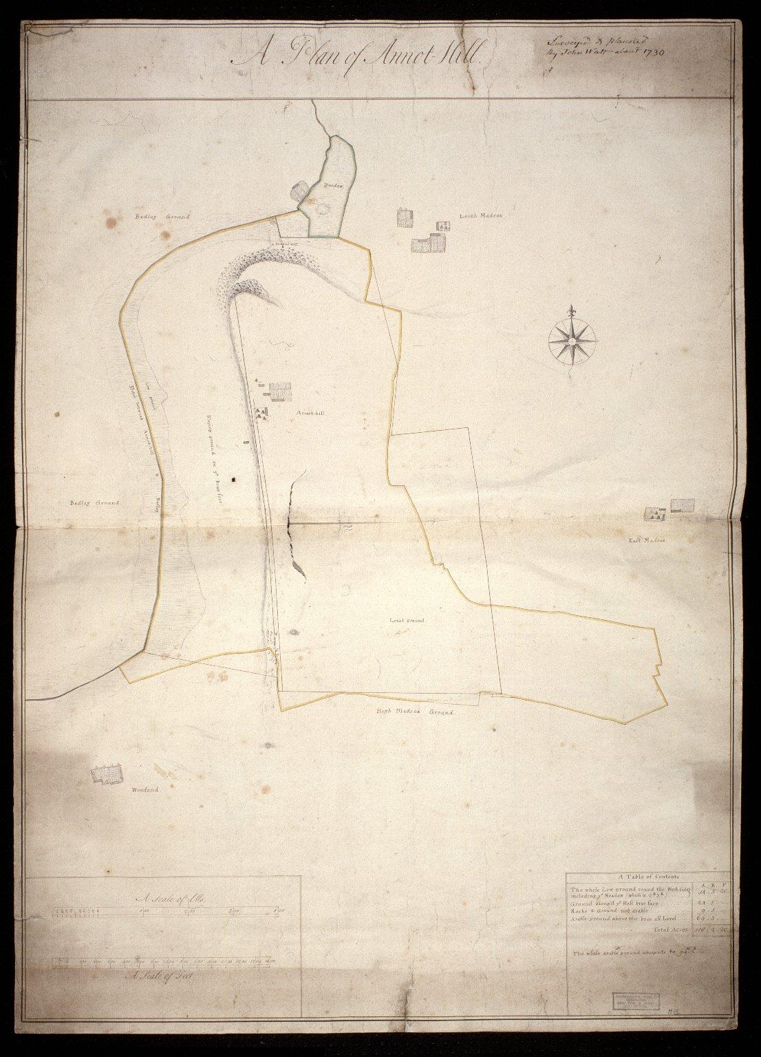 [Plan of Arnot-hill, Lanarkshire, by John Watt] [1 of 1]