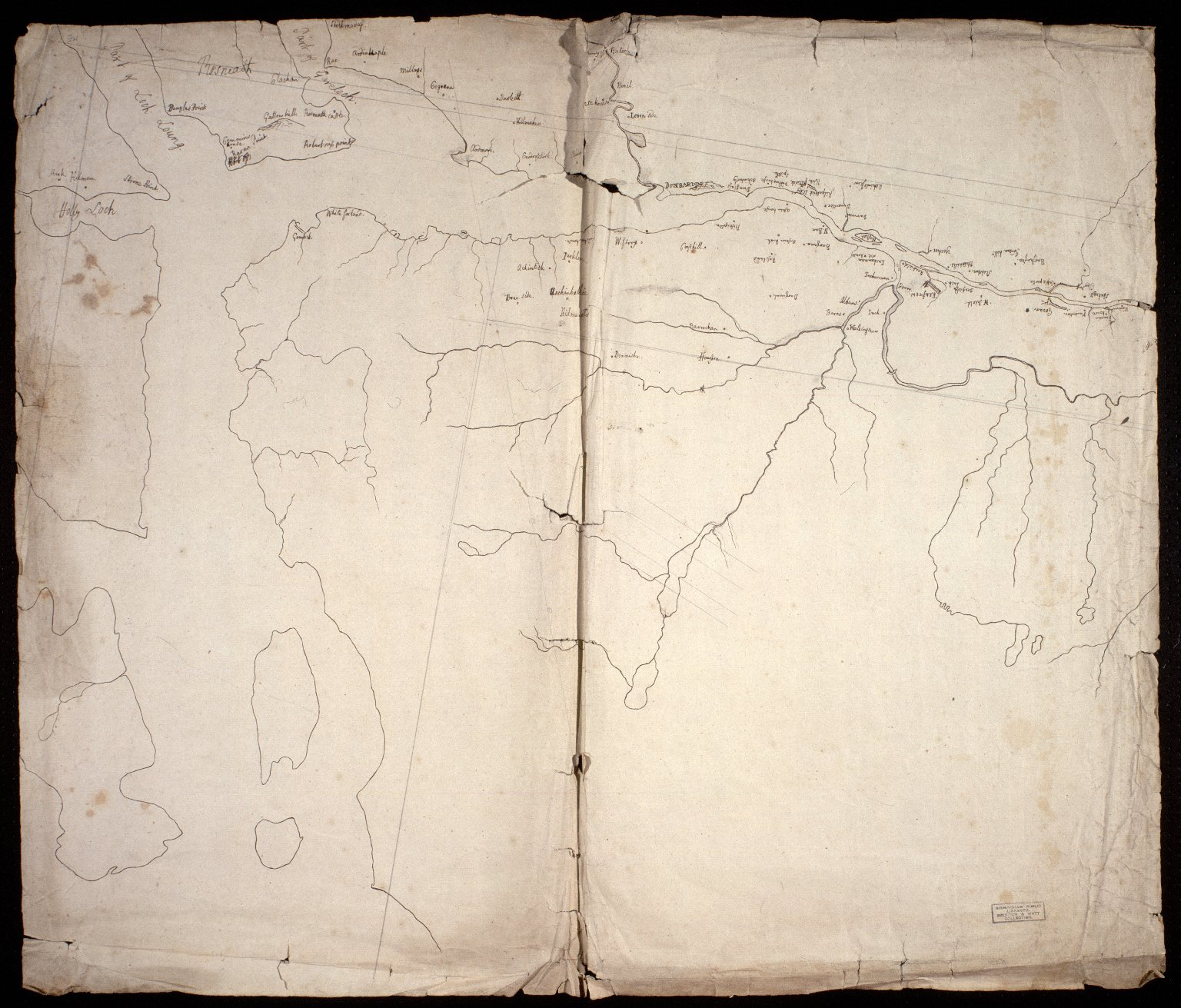[Unfinished map of the Firth of Clyde] [1 of 1]