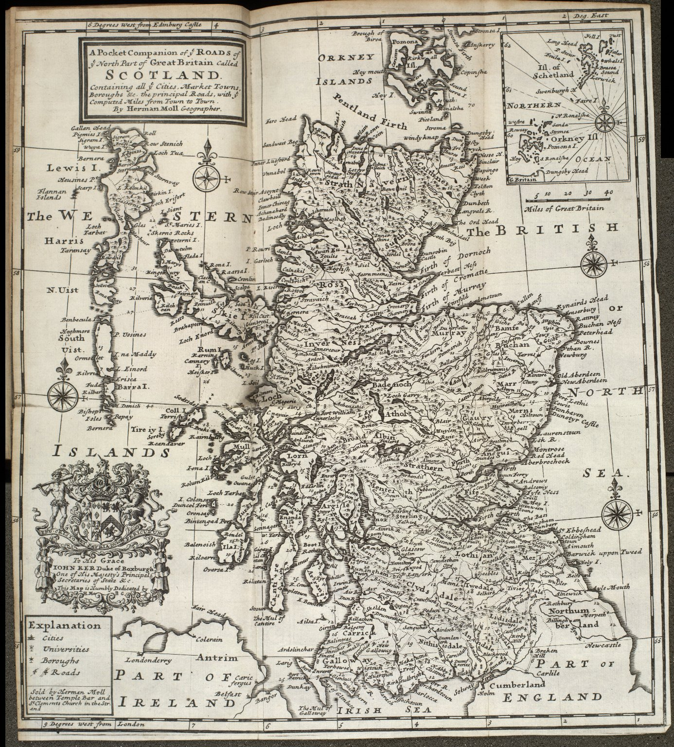 A Pocket Companion of ye ROADS of ye North Part of Great Britain called SCOTLAND [1 of 1]