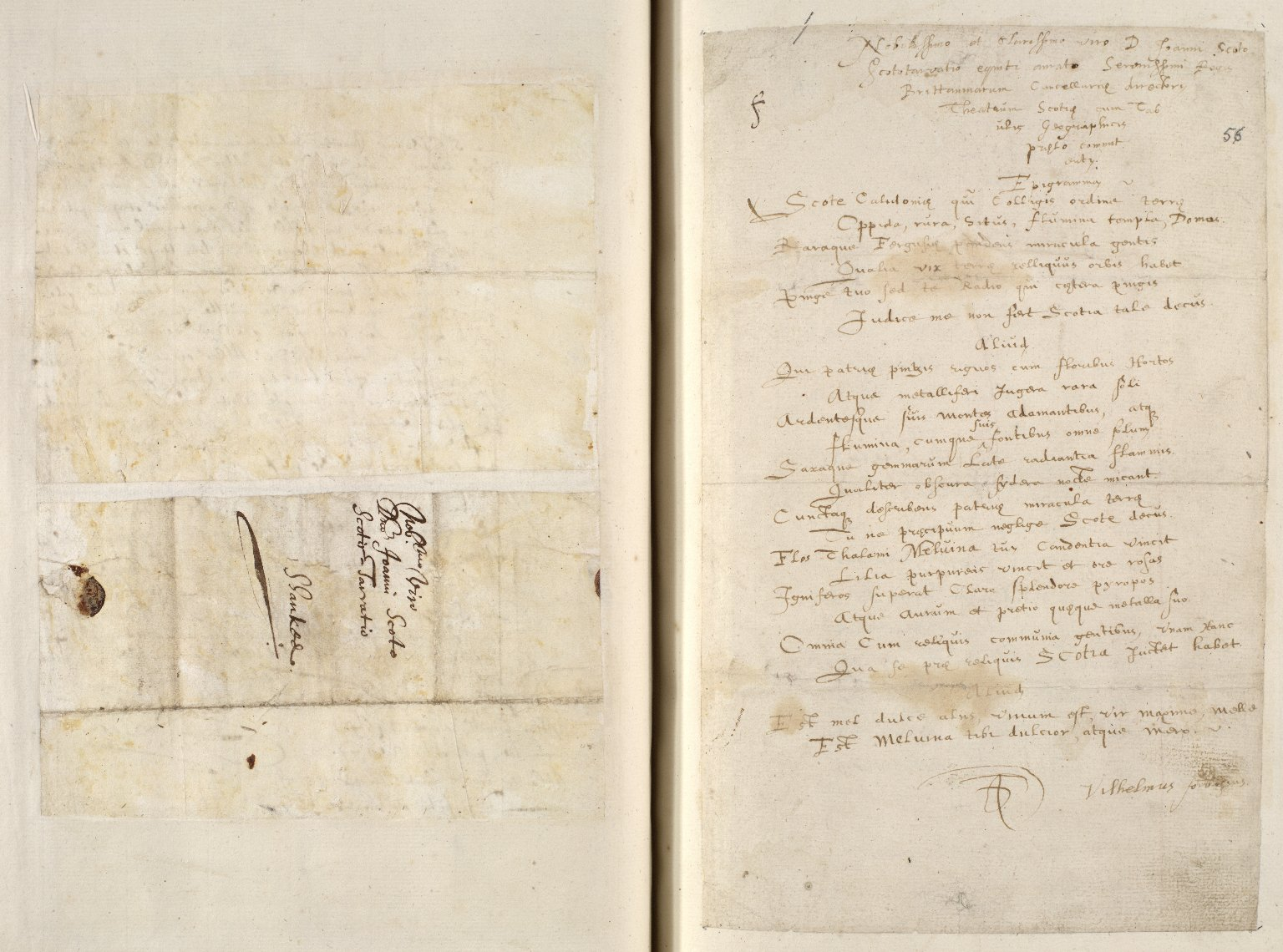 [A collection of ALS to Sir John Scot, Lord Scotstarvet, from W.J. and Joan Blaeu, Amsterdam] [07 of 27]