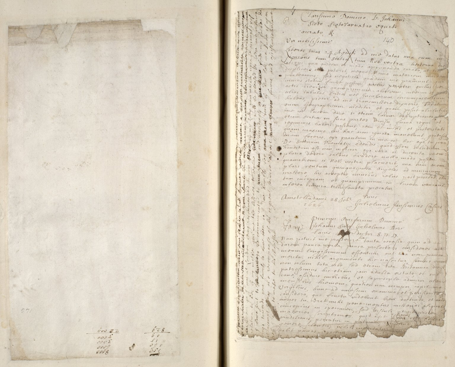 [A collection of ALS to Sir John Scot, Lord Scotstarvet, from W.J. and Joan Blaeu, Amsterdam] [08 of 27]