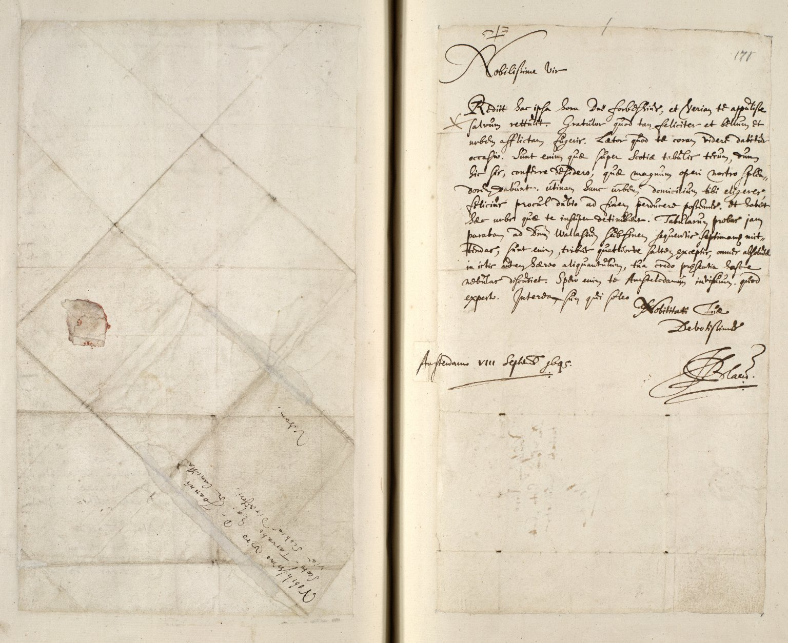 [A collection of ALS to Sir John Scot, Lord Scotstarvet, from W.J. and Joan Blaeu, Amsterdam] [10 of 27]