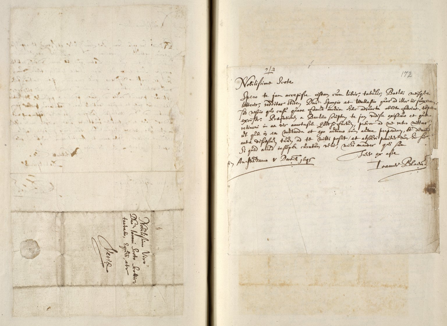 [A collection of ALS to Sir John Scot, Lord Scotstarvet, from W.J. and Joan Blaeu, Amsterdam] [11 of 27]