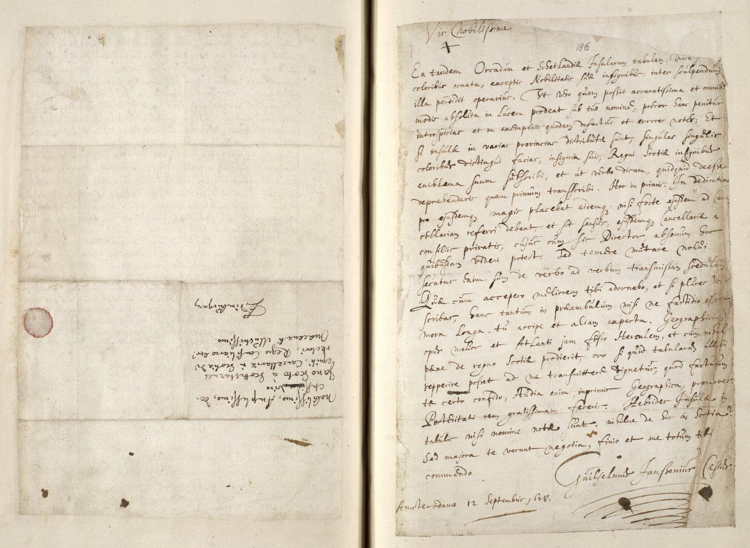 [A collection of ALS to Sir John Scot, Lord Scotstarvet, from W.J. and Joan Blaeu, Amsterdam] [13 of 27]