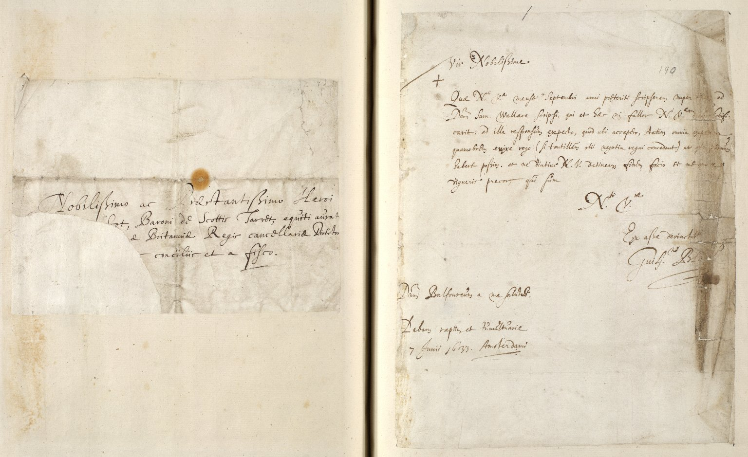 [A collection of ALS to Sir John Scot, Lord Scotstarvet, from W.J. and Joan Blaeu, Amsterdam] [15 of 27]