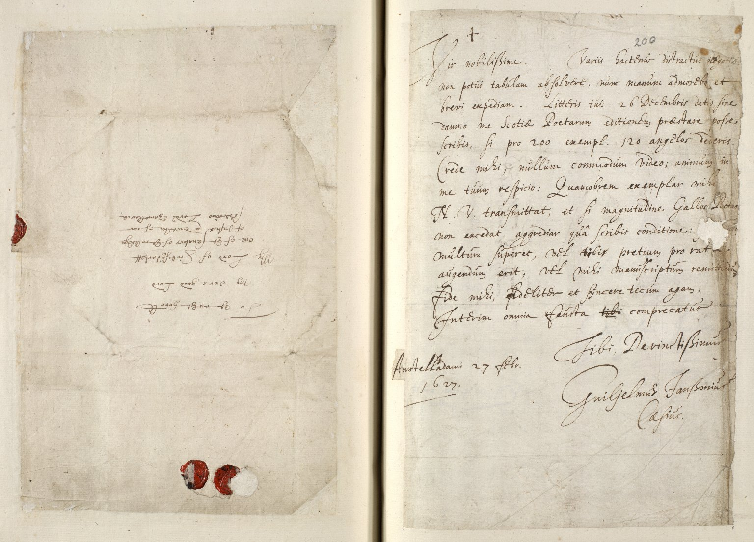 [A collection of ALS to Sir John Scot, Lord Scotstarvet, from W.J. and Joan Blaeu, Amsterdam] [16 of 27]