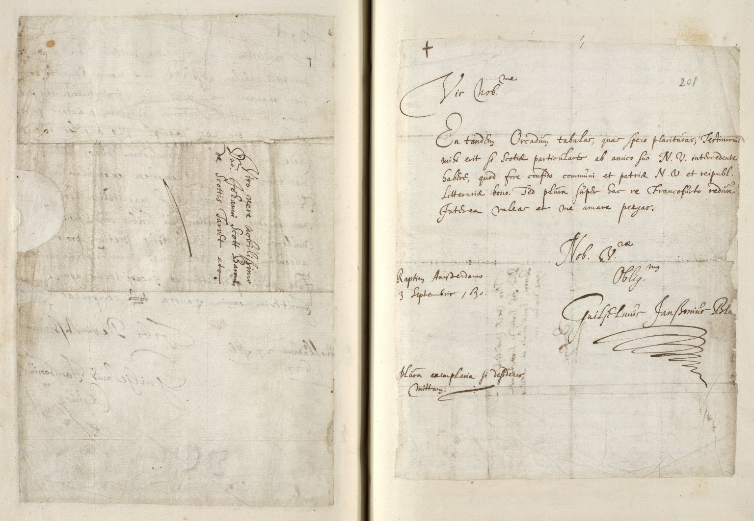[A collection of ALS to Sir John Scot, Lord Scotstarvet, from W.J. and Joan Blaeu, Amsterdam] [17 of 27]