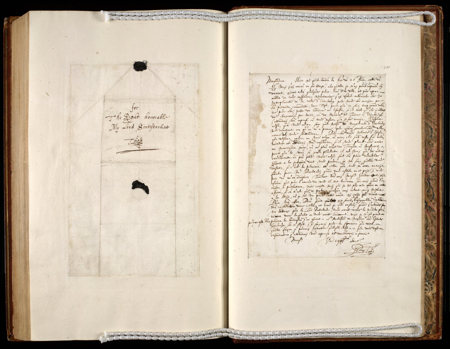 [A collection of ALS to Sir John Scot, Lord Scotstarvet, from W.J. and Joan Blaeu, Amsterdam] [27 of 27]