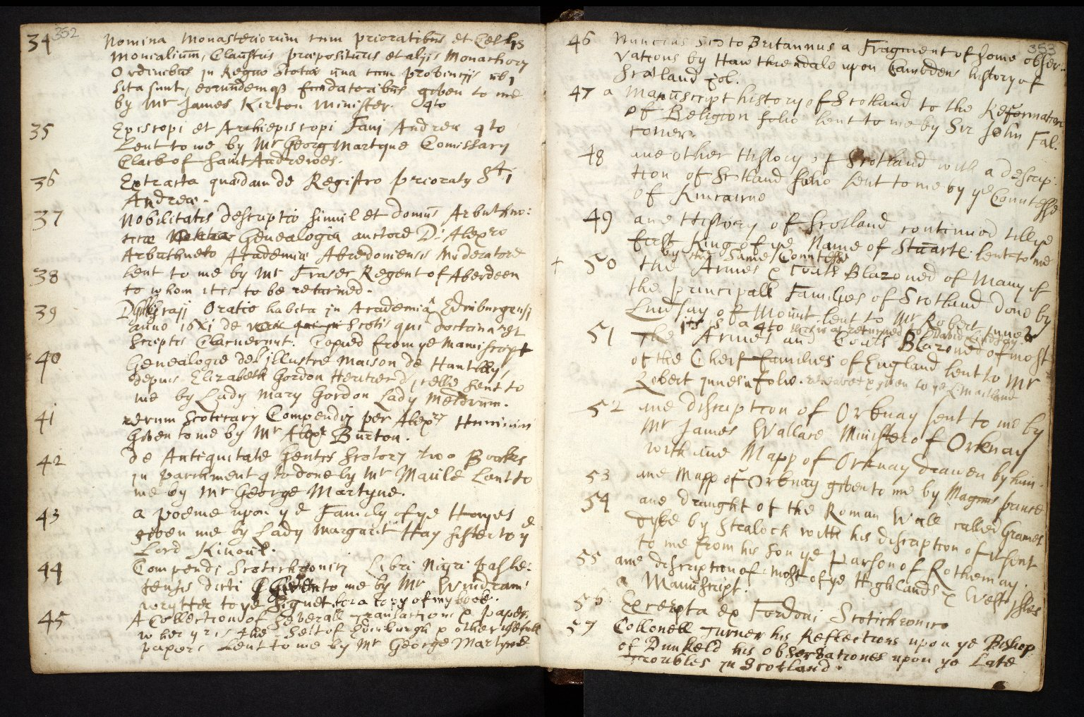 Ane Account of the manuscripts, informations, and printed books sent for compyling the Description of Scotland [3 of 7]