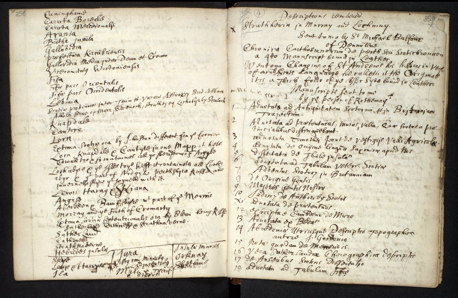 Ane Account of the manuscripts, informations, and printed books sent for compyling the Description of Scotland [6 of 7]