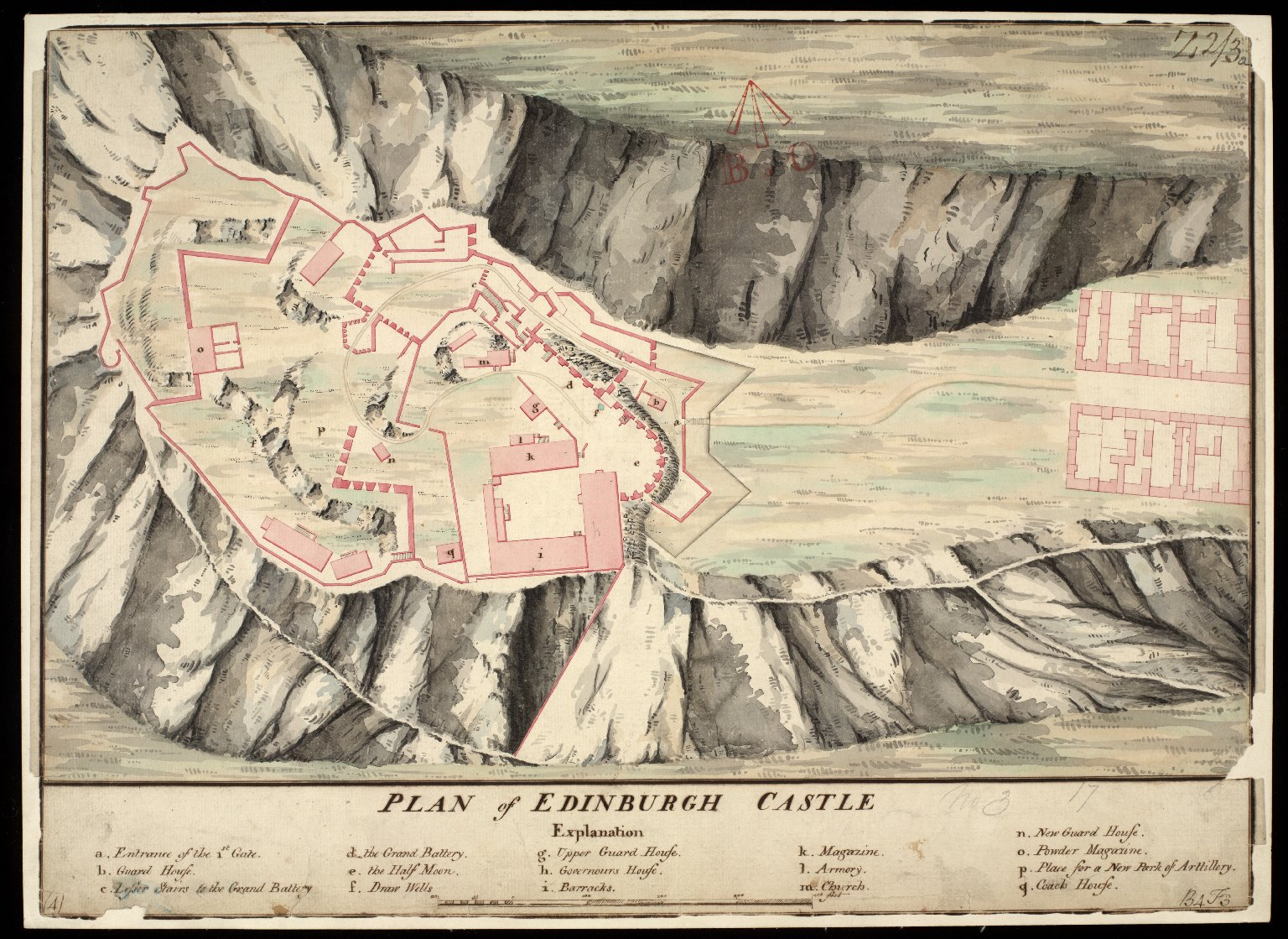Plan of Edinburgh Castle [1 of 1]