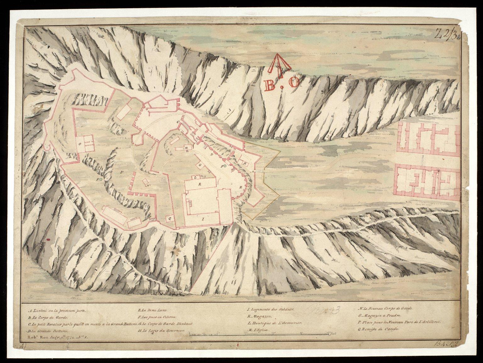 [Plan of Edinburgh Castle - copy; original 1725, copied 1774] [1 of 1]
