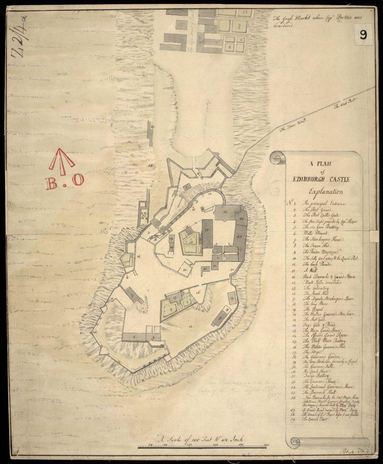 A Plan of Edinburgh Castle [copy] [1 of 1]